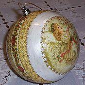 """Подарки к праздникам ручной работы. Ярмарка Мастеров - ручная работа Новогодний шар """"Рождественский ангел"""". Handmade."""