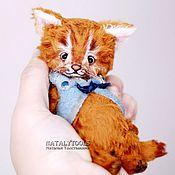 Куклы и игрушки ручной работы. Ярмарка Мастеров - ручная работа Котенок  Синичкин, коллекционная игрушка кот кошка котенок тедди cat. Handmade.