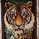 """Животные ручной работы. Ярмарка Мастеров - ручная работа. Купить Панно в ковровой технике """"Взгляд из джунглей"""". Handmade. Оранжевый"""
