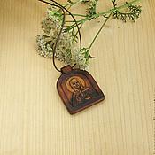"""Работы для детей, ручной работы. Ярмарка Мастеров - ручная работа """"Святая Матронушка Московская"""" - нательный образок-икона. Handmade."""