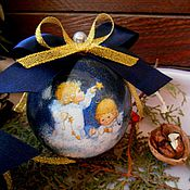 """Подарки к праздникам ручной работы. Ярмарка Мастеров - ручная работа """"Ангелы"""" - новогодние шары, елочные украшения новогодние подарки. Handmade."""