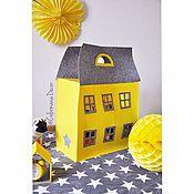 Для дома и интерьера ручной работы. Ярмарка Мастеров - ручная работа Сумка-дом для игрушек. Handmade.