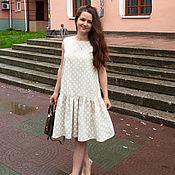Выкройка платья с воланом по низу свободного кроя
