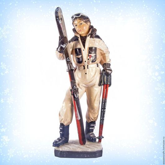 Персональные подарки ручной работы. Ярмарка Мастеров - ручная работа. Купить Лыжница из дерева. Handmade. Комбинированный, спорт