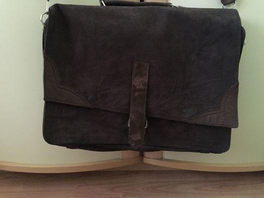 Мужские сумки ручной работы. Ярмарка Мастеров - ручная работа. Купить Сумка кожаная коричневая. Ручная работа. Handmade. Коричневый
