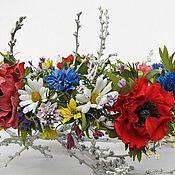 Украшения ручной работы. Ярмарка Мастеров - ручная работа Венок-трансформер Полевые цветы. Handmade.