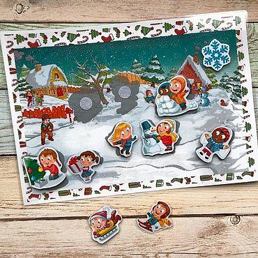 Куклы и игрушки ручной работы. Ярмарка Мастеров - ручная работа Зимние забавы на липучках. Handmade.