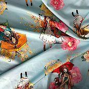 Ткани ручной работы. Ярмарка Мастеров - ручная работа ткань вискоза креп стрейч Девочки. Handmade.