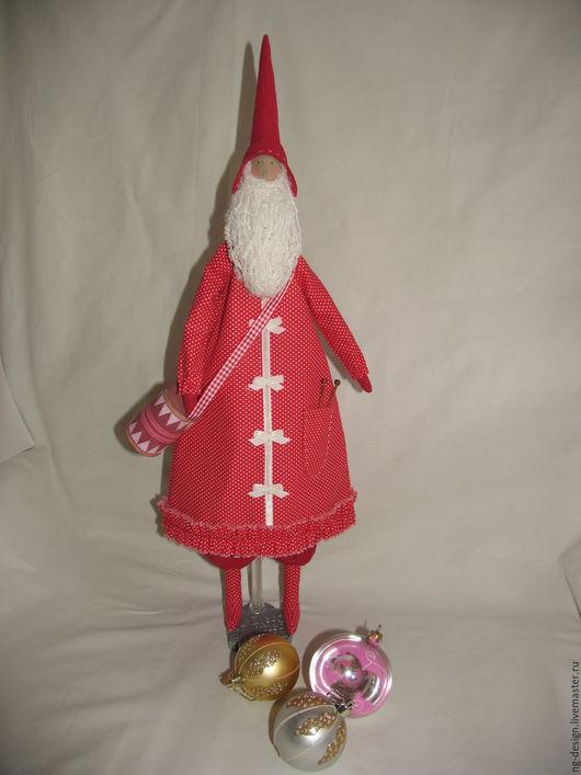 Куклы Тильды ручной работы. Ярмарка Мастеров - ручная работа. Купить Тильда Санта с барабаном. Handmade. Бордовый, санта тильда