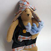 Куклы и игрушки handmade. Livemaster - original item Toy tilde Bunny with Cock. Handmade.