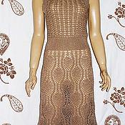 Одежда handmade. Livemaster - original item Knit dress crochet copy Escada. Handmade.