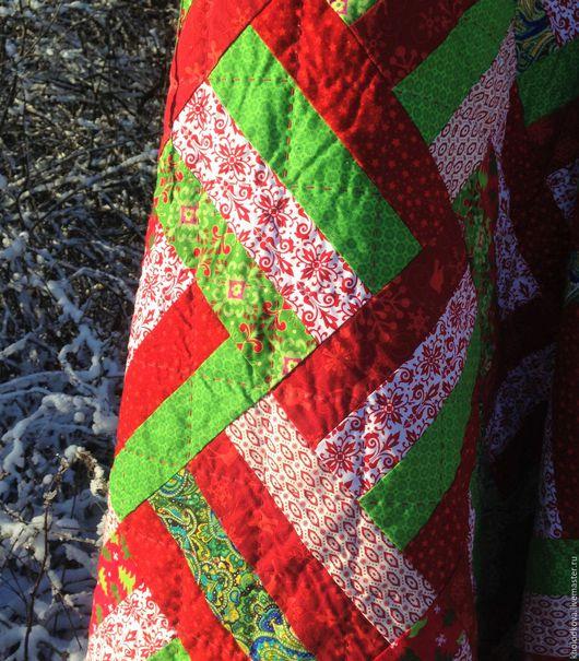 """Текстиль, ковры ручной работы. Ярмарка Мастеров - ручная работа. Купить Лоскутный плед """"Зимний"""". Handmade. Лоскутный, новогодний подарок"""