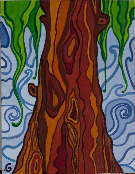 Абстракция ручной работы. Ярмарка Мастеров - ручная работа. Купить Дерево. Handmade. Зеленый, картина, Живопись, масло