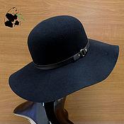 Аксессуары handmade. Livemaster - original item Stylish wide-brimmed hat of felt with a soft brim. Six colors.. Handmade.