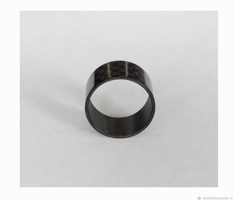 Carbon fiber ring 17 x 10. Glossy, Rings, Vladimir,  Фото №1