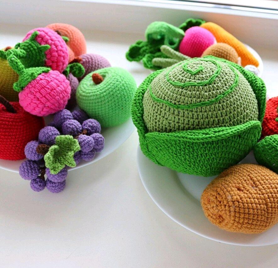 Фрукты и овощи вязаные, Кукольная еда, Кондопога,  Фото №1