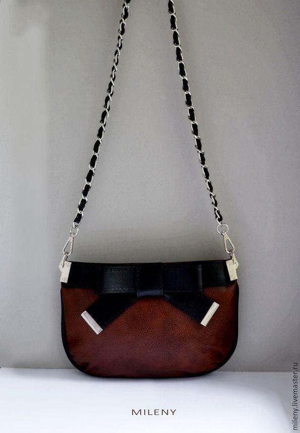 сумка кожаная на цепочке сумка кожаная женская черная купить сумка  коричневая ручной работы купить сумка на ... aae3d418173