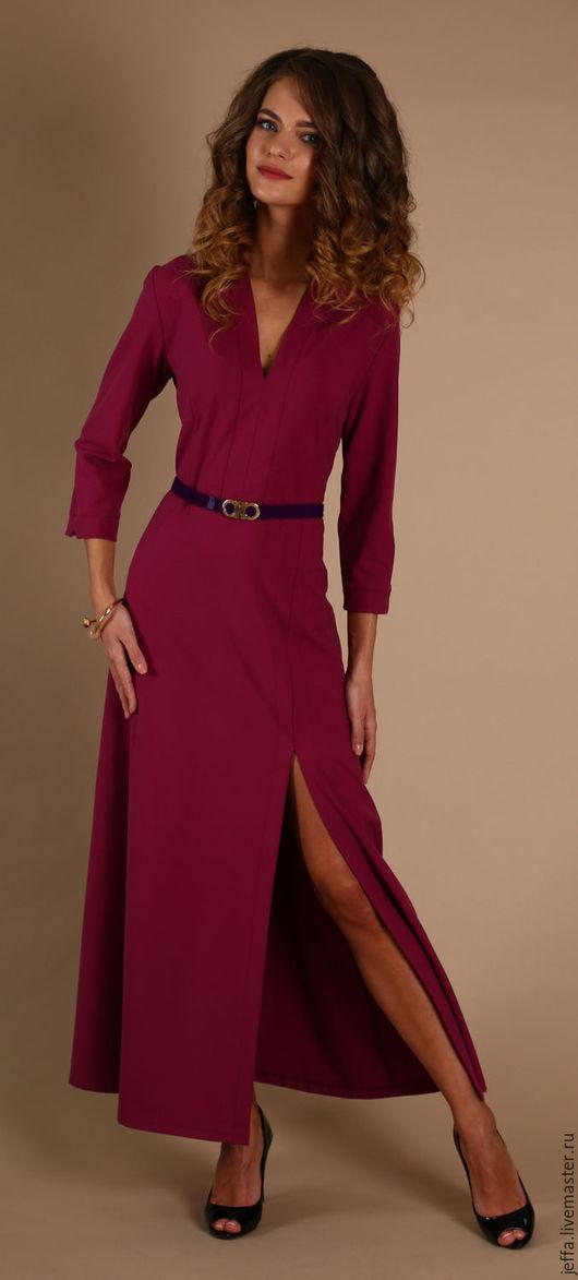 Платья ручной работы. Ярмарка Мастеров - ручная работа. Купить Платье Бриана арт.5398. Handmade. Фуксия, модная одежда