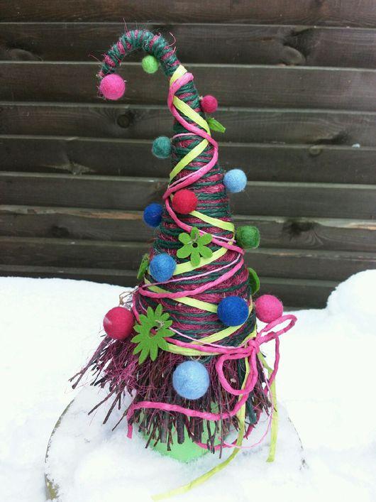 """Персональные подарки ручной работы. Ярмарка Мастеров - ручная работа. Купить Новогодняя елка """"Витаминно-ягодная"""". Handmade. Яркий, малиновый"""