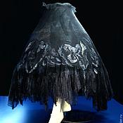 """Одежда ручной работы. Ярмарка Мастеров - ручная работа Юбка готический стиль на запахе  """"Дуэнья""""  Gothic.. Handmade."""