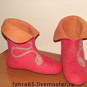 Обувь ручной работы. Ярмарка Мастеров - ручная работа Домашние валенки. Handmade.