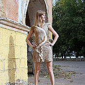 """Одежда ручной работы. Ярмарка Мастеров - ручная работа Валяное платье """"Латте с миндальным сиропом"""". Handmade."""