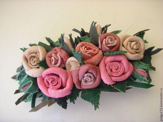 """Заколки ручной работы. Ярмарка Мастеров - ручная работа. Купить Заколка для волос """"Фантазия из роз"""". Handmade. Розовый, заколка с цветком"""