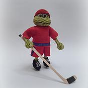 Куклы и игрушки ручной работы. Ярмарка Мастеров - ручная работа Трус не играет в хоккей! Лягушк-хоккеист. Handmade.