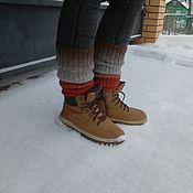 Аксессуары handmade. Livemaster - original item Leg warmers Halloween (length 38 cm). Handmade.