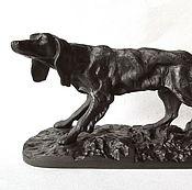 Винтаж handmade. Livemaster - original item Sculpture Hunting Dog Cast iron Kusa Casting. Handmade.