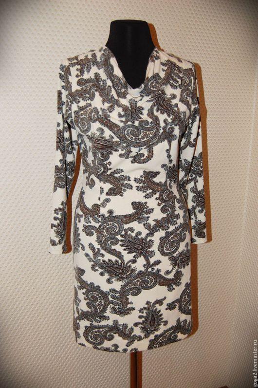 """Платья ручной работы. Ярмарка Мастеров - ручная работа. Купить Трикотажное платье """"Пейсли"""". Handmade. Комбинированный, красивое платье купить"""
