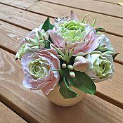 """Цветы и флористика ручной работы. Ярмарка Мастеров - ручная работа """"Мысли вслух"""" - цветочная композиция. Полимерная глина.. Handmade."""