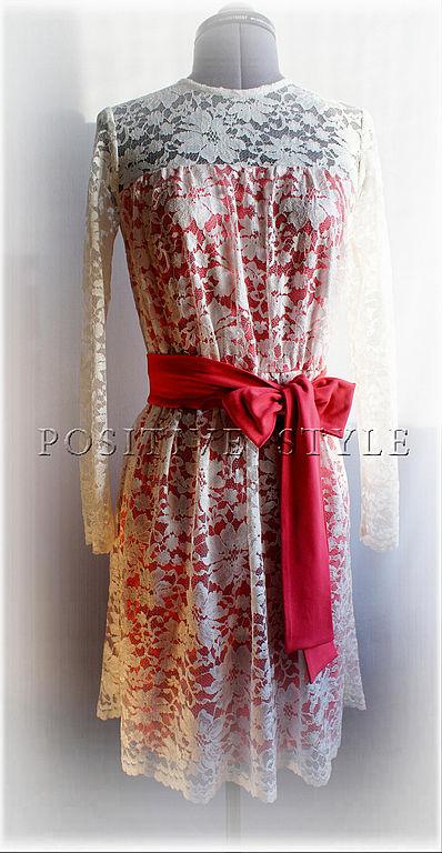 """Платья ручной работы. Ярмарка Мастеров - ручная работа. Купить Платье  """"Анна"""". Handmade. Кружевное платье, лососевый"""