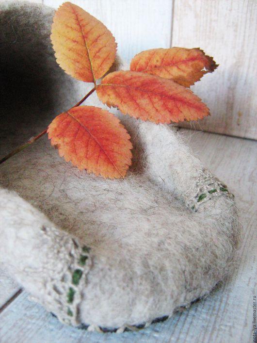 Обувь ручной работы. Ярмарка Мастеров - ручная работа. Купить Валяные домашние тапочки Прованс - лето и осень. Handmade. комфорт