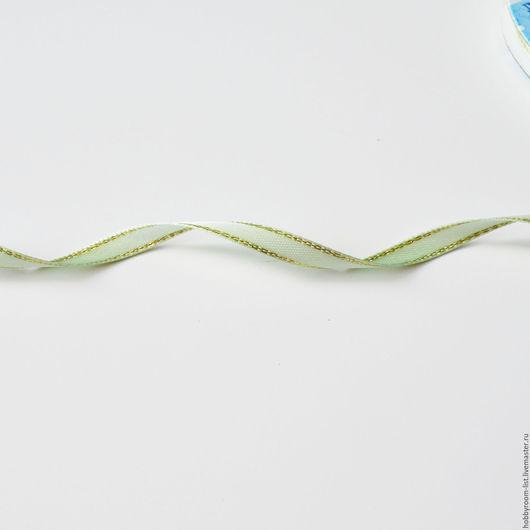 Шитье ручной работы. Ярмарка Мастеров - ручная работа. Купить Лента атласная с нитью 6 мм. Handmade. Комбинированный