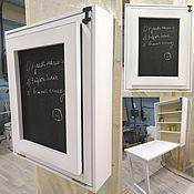 Для дома и интерьера ручной работы. Ярмарка Мастеров - ручная работа Стол-стеллаж с мелковой доской. Handmade.