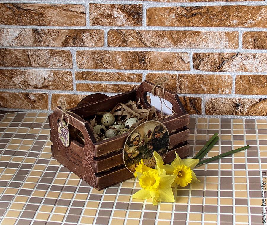 Easter box basket 'Grace', Basket, ,  Фото №1