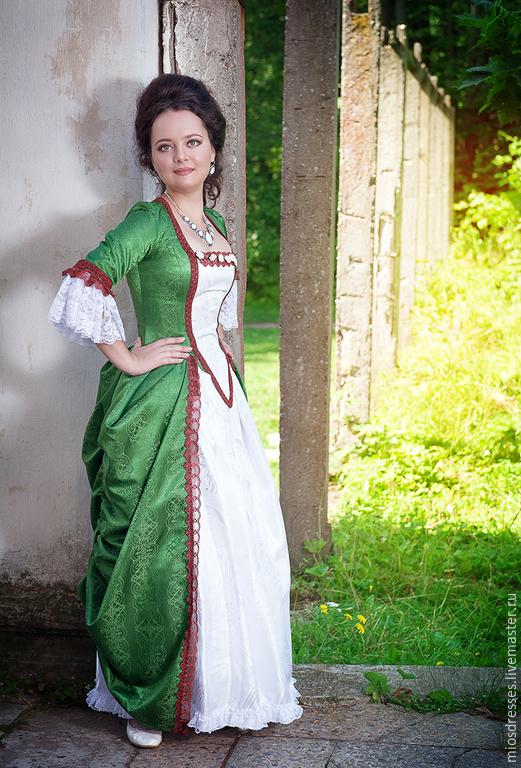 Карнавальные костюмы ручной работы. Ярмарка Мастеров - ручная работа. Купить Зеленое платье. Handmade. Зеленый, ролевой костюм