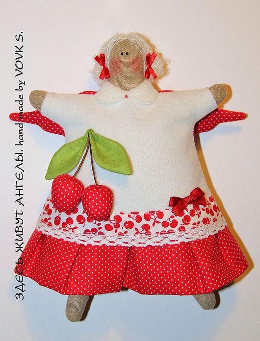 Куклы Тильды ручной работы. Ярмарка Мастеров - ручная работа. Купить Пирожный ангел.. Handmade. Пирожный ангел, комбинированный