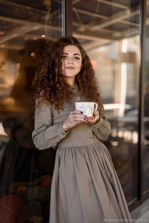 de786c66bdc Платья ручной работы. Ярмарка Мастеров - ручная работа. Купить  Кофейно-песочное зимнее платье ...