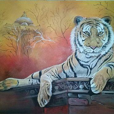 Картины и панно ручной работы. Ярмарка Мастеров - ручная работа Картины: Восточный тигр. Handmade.