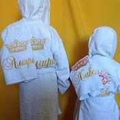Одежда ручной работы. Ярмарка Мастеров - ручная работа Халат детский махровый с вышивкой. Handmade.