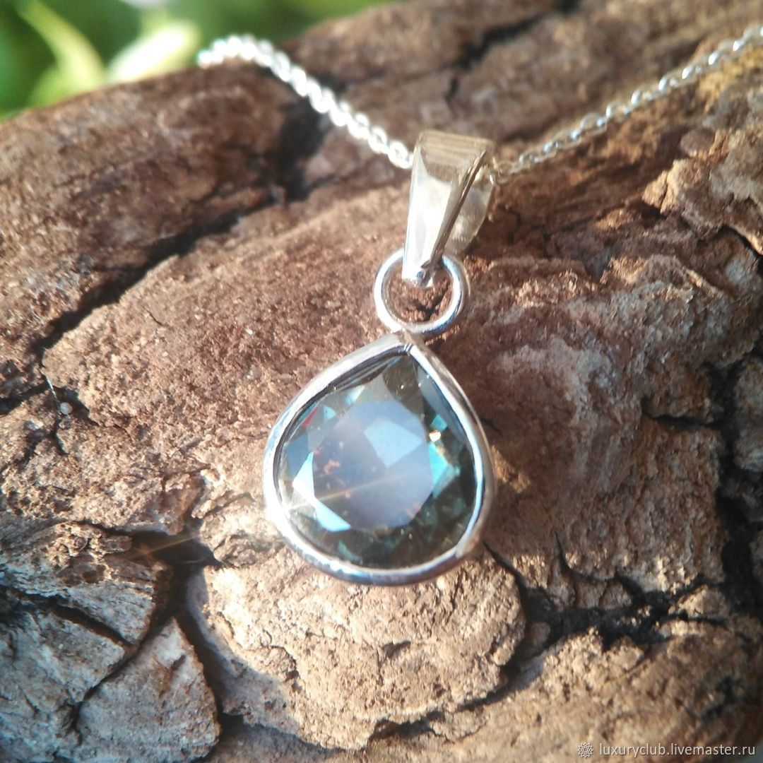 Pendant with a diamond 'Turquoise ice' buy, Pendant, Tolyatti,  Фото №1