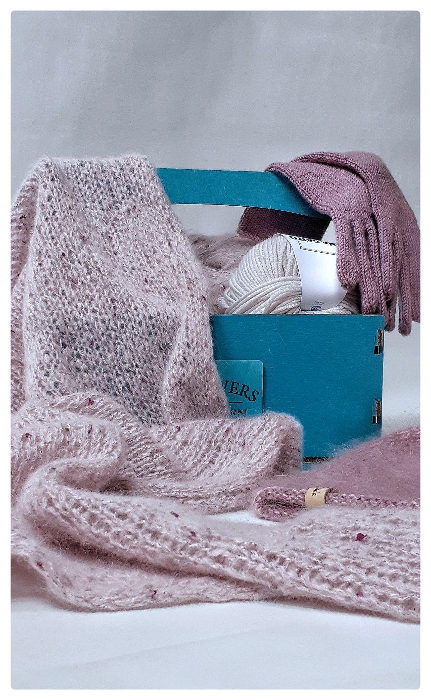 Комплект: вязаная шапка, перчатки, косынка, Шапки, Тюмень,  Фото №1