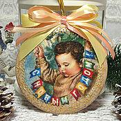"""Подарки к праздникам ручной работы. Ярмарка Мастеров - ручная работа Медальон на елку """"С Новым годом!"""". Handmade."""