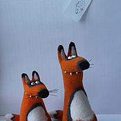 Куклы и игрушки ручной работы. Ярмарка Мастеров - ручная работа Лисы. Handmade.