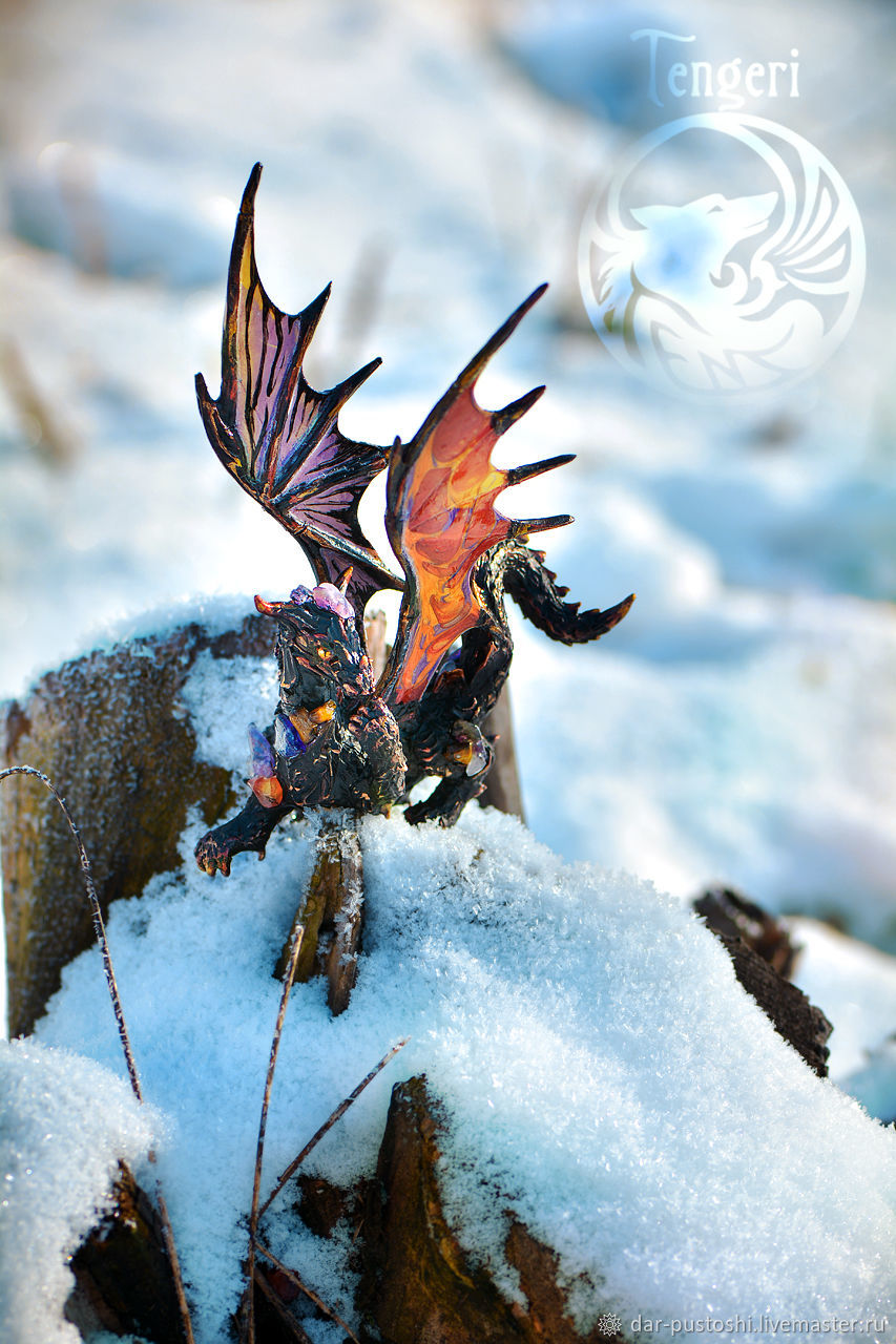 Фигурка дракон, статуэтка дракон, скульптура дракон, лавовый дракон, Куклы и пупсы, Бийск,  Фото №1