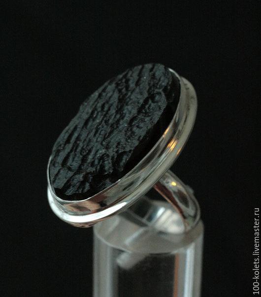 Кольца ручной работы. Ярмарка Мастеров - ручная работа. Купить Кольцо с тектитом. Handmade. Черный, натуральные камни, натуральный тектит