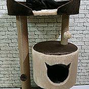 Когтеточки ручной работы. Ярмарка Мастеров - ручная работа Когтеточка с домиком для кошек ( подходит для крупных пород) Холли ХL. Handmade.