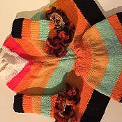 Работы для детей, ручной работы. Ярмарка Мастеров - ручная работа Детское вязаное пончо, юбочка и гетры. Handmade.